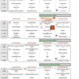 cantine menus mars 2015