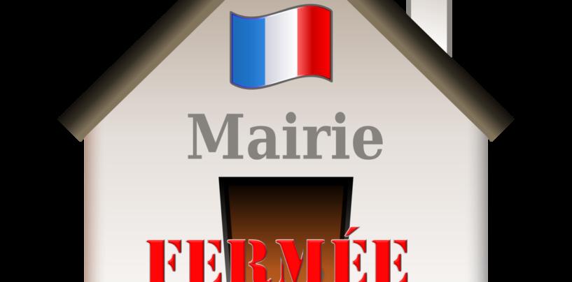 Fermeture Exceptionnelle de la Mairie le Lundi 7 mai 2018 après midi et Vendredi 11 mai 2018