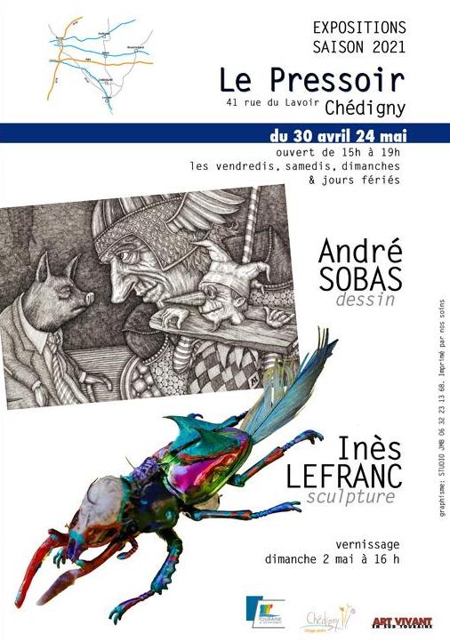 Report expo dessins et sculpture (Chédigny)