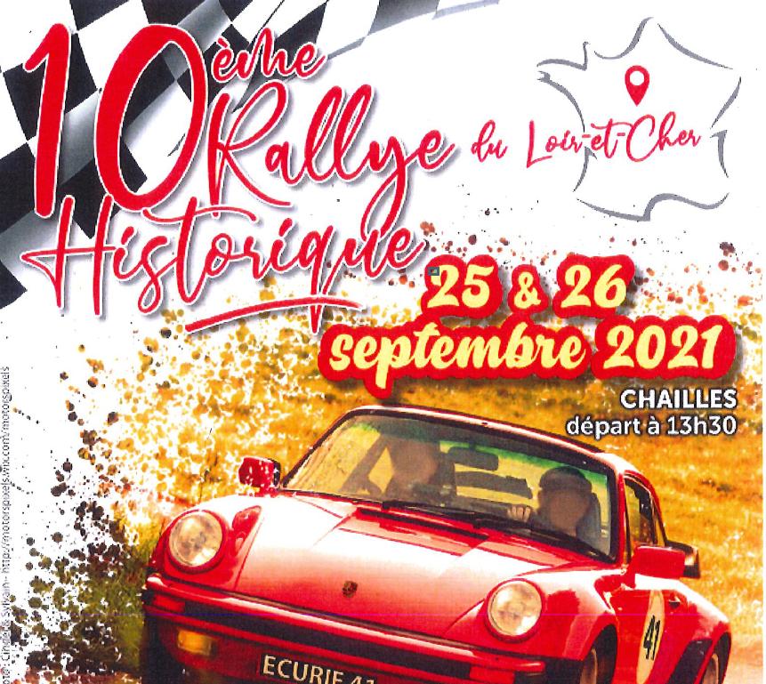 Passage du rallye historique du Loir-et-Cher